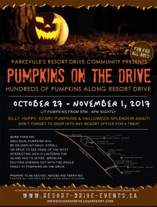 Pumpkins on the Drive @ Resort Drive, Parksville