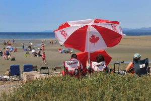 Canada day at beach